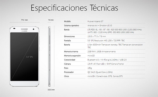 Huawei G7 telecable