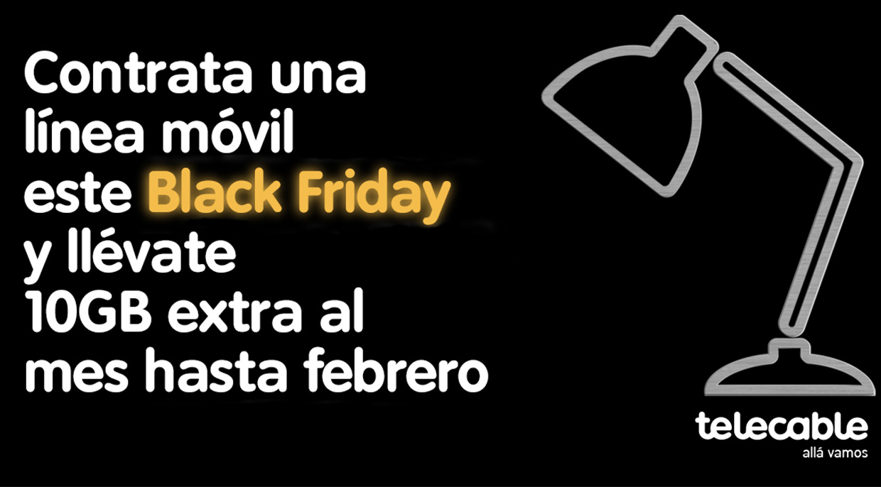 Pásate por el Black Friday de telecable y llévate 10 GB extra